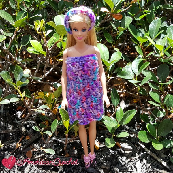 Bubble Berries Barbie Dress | Free Crochet Pattern | American Crochet @americancrochet.com #freecrochetpattern