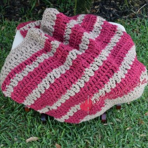 Chunky Bumble Berries Lapghan free crochet pattern