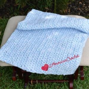 Flutterby Baby Blanket | Free Crochet Pattern | American Crochet @americancrochet.com #freecrochetpattern