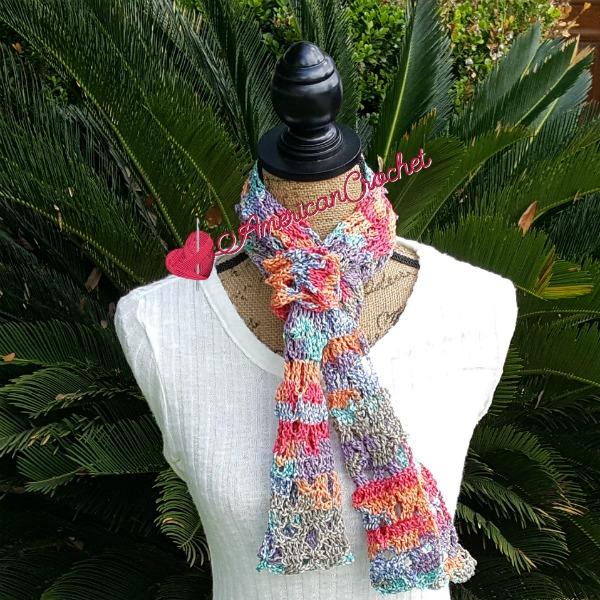 Sweet Rainbow Scarf | Free Crochet Pattern | American Crochet @americancrochet.com #freecrochetpattern