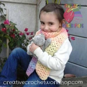 Rainbow V-Stitch Scarf ~ Crafting A Rainbow Of Hope!