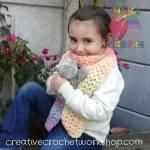 Rainbow V-Stitch Scarf free crochet