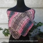 Vintage Scalloped Shawl free crochet pattern