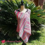 Berry Bubbles Shawl free crochet pattern