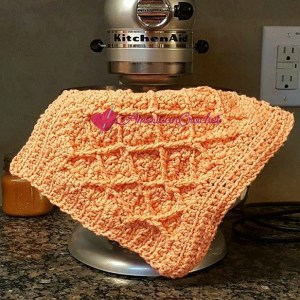 Diamond Seed Stitch Dishcloth