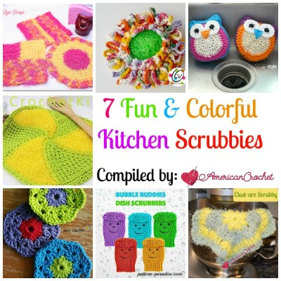 7 Fun Kitchen Scrubbies ~ Free Crochet Pattern Roundup