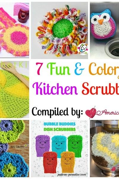Kitchen Scrubbies free crochet pattern roundup
