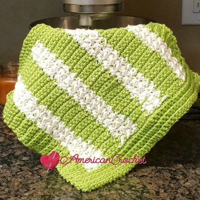 Moss Columns Dishcloth ~Free Crochet Pattern