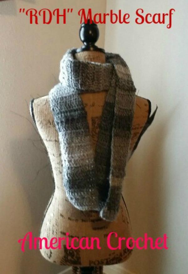 RDH Marble Scarf | American Crochet @americancrochet.com
