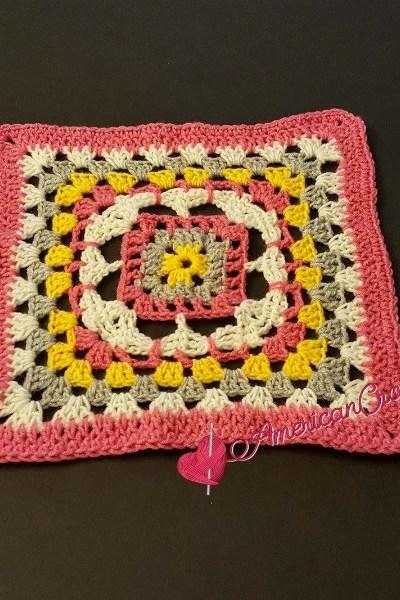 Rhapsody Flower Granny Square free crochet pattern