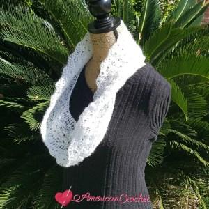 Shimmery Cloud Cowl | Crochet Pattern | American Crochet @americancrochet.com #crochetpattern