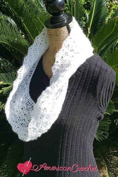 Shimmery Cloud Cowl free crochet pattern