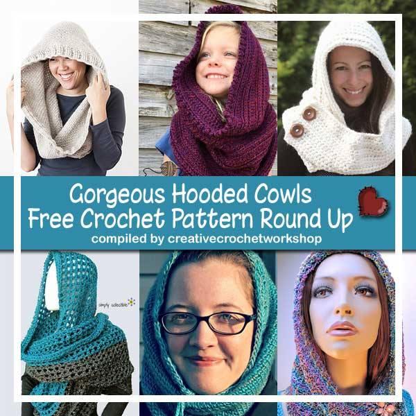 Gorgeous Hooded Cowls Free Crochet Pattern Round Up | Creative Crochet Workshop @creativecrochetworkshop @americancrochet