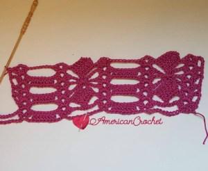 Diamond Bars Scarf | Free Crochet Pattern | American Crochet #DiamondsBarsScarf