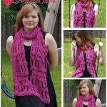 Diamond Bars Scarf free crochet pattern