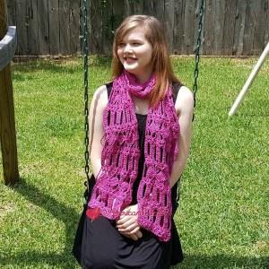 Diamond Bars Scarf | Free Crochet Pattern | American Crochet @americancrochet.com #DiamondsBarsScarf