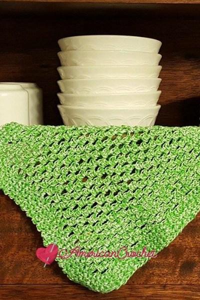 Double Moss Dishcloth free crochet pattern