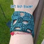 Drift Arch Bracelet free crochet pattern
