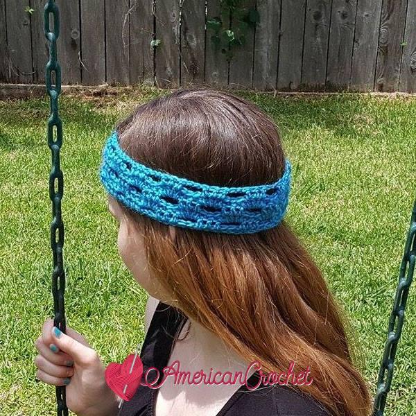 Fashion Arch Headband | Free Crochet Pattern | American Crochet @americancrochet.com #FashionArchHeadband