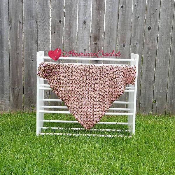 Soft Cherry Steps Baby Blanket | Free Crochet Pattern | American Crochet @americancrochet.com #freecrochetpattern