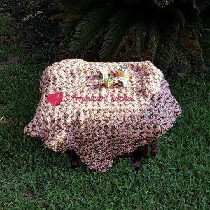 Soft Cherry Steps Baby Blanket   Free Crochet Pattern   American Crochet @americancrochet.com #SoftCherryStepsBabyBlanket