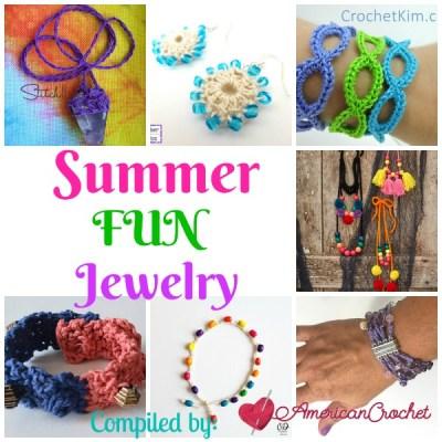 Summer Fun Jewelry ~ Free Crochet Pattern Roundup