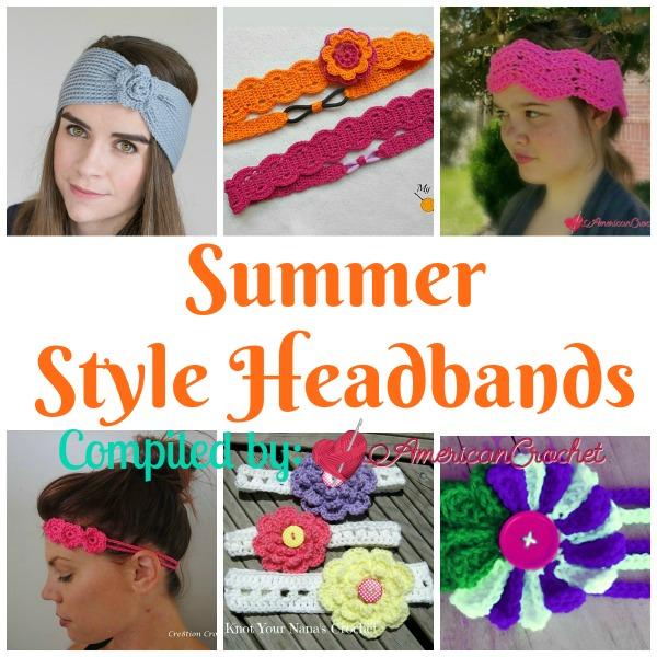 Summer Style Headbands Free Pattern Roundup | American Crochet @americancrochet