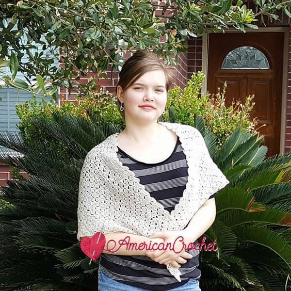 Vintage Linen Shawl ~ Free Crochet Pattern