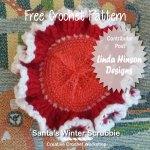Santa's Winter Scrubbie free crochet pattern