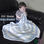 ESC Round Baby Blanket free crochet pattern