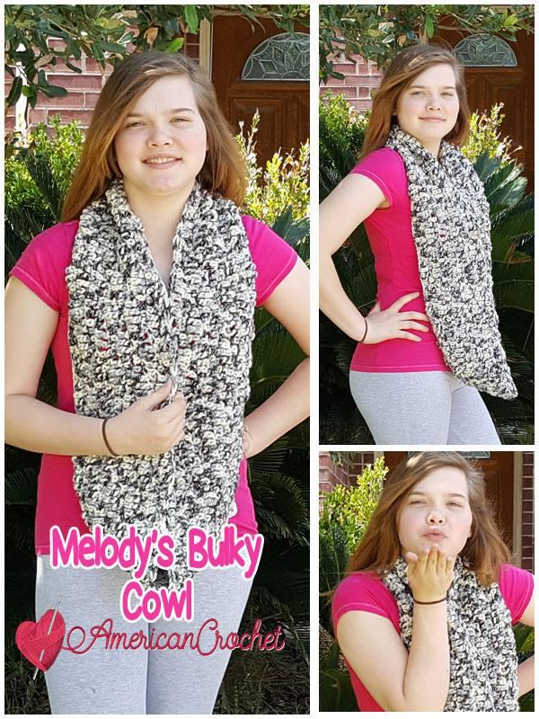 Melody's Bulk Cowl Tutorials | Free Crochet Pattern | American Crochet #freecrochetpattern