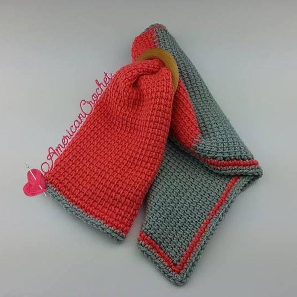 Tunisian Hugs Lovey | Tunisian Crochet Pattern | American Crochet @americancrochet.com #freecrochetpattern