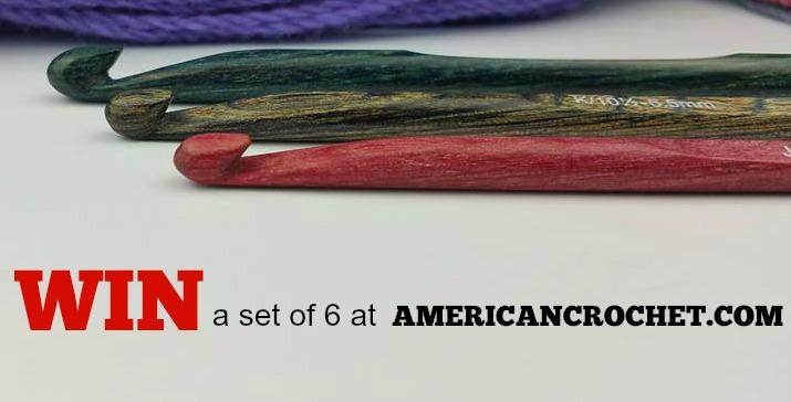 Giveaway Wooden Crochet Hooks | American Crochet @americancrochet.com #giveawaywoodencrochethooks
