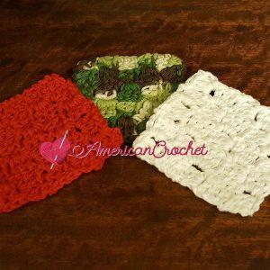 Cornered Coaster   Free Crochet Pattern   American Crochet @americancrochet.com #freecrochetpattern