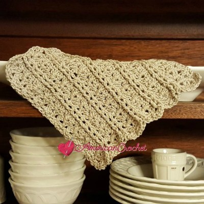 Vintage Lace Shells Dishcloth