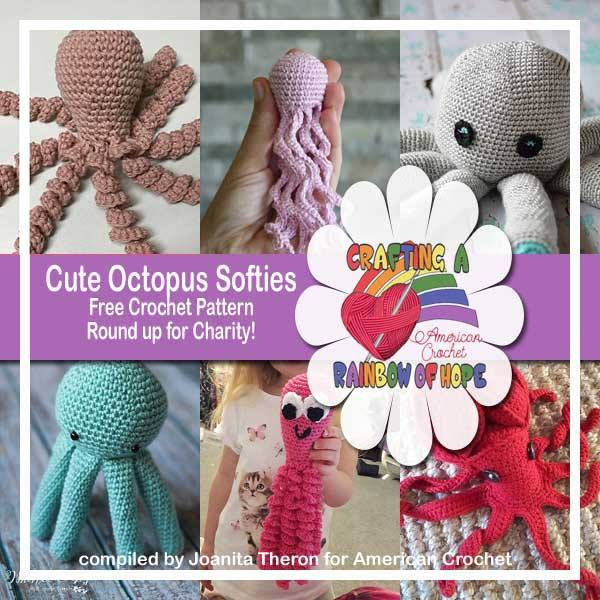 Cute Octopus Softies | Crochet Roundup | American Crochet @americancrochet.com @creativecrochetworkshop.com