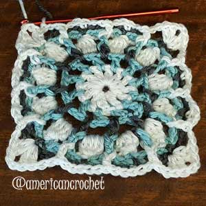 Audrey Circle in A Square | American Crochet @americancrochet.om