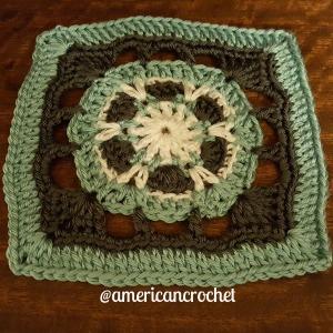 Eunice Circle in A Square | American Crochet @americancrochet.com
