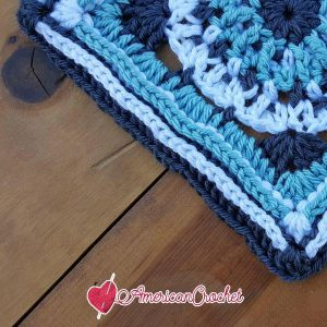 Maxine Circle in A Square | Free Crochet Pattern | American Crochet @americancrochet.com #freecrochetpattern #freecrochetalong