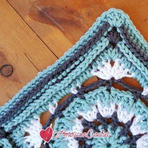 ROSE Circle in A Square | American Crochet @americancrochet.com