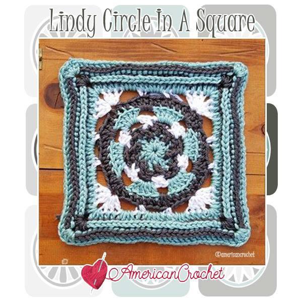 Lindy Circle in A Square | Free Crochet Pattern | American Crochet @americancrochet.com #freecrochetpattern #freecrochetalong
