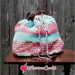 The Neapolitan Tote Crochet Along | American Crochet @americancrochet.com #crochetalong