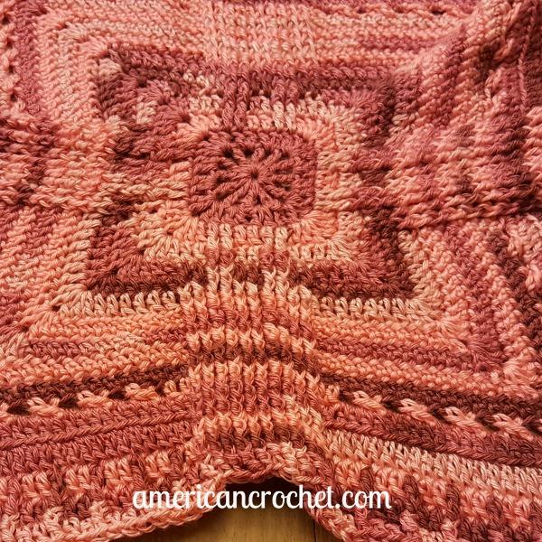 Rosewood Baby Blanket Part Three | Crochet Pattern | American Crochet @americancrochet.com #crochetpattern #crochetalong