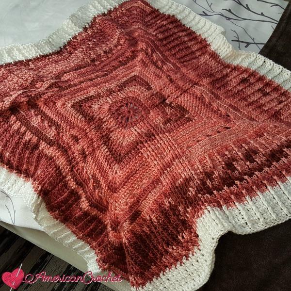 Rosewood Baby Blanket Part Five | Crochet Pattern | American Crochet @americancrochet.com #crochetpattern #crochetalong