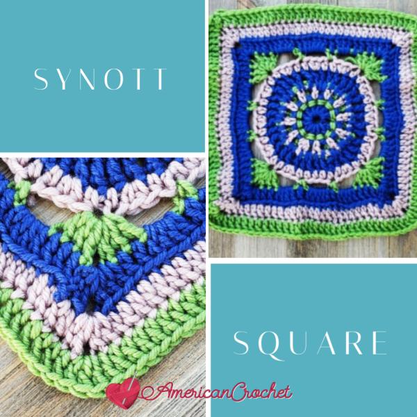 Synott Square | Crochet Pattern | American Crochet @americancrochet.com #crochetpattern