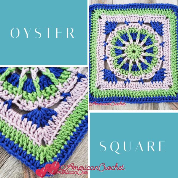 Oyster Square | Crochet Pattern | American Crochet @americancrochet.com #crochetalong #crochetpattern