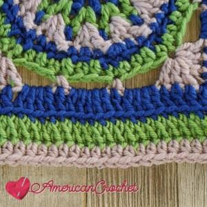 Benard Square   American Crochet @americancrochet.com #crochetalong