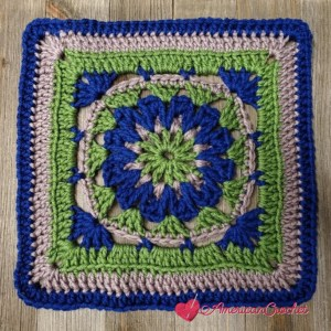 Blessed Square | Crochet Pattern | American Crochet @americancrochet.com