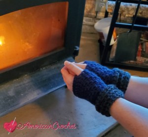 Blessed Fingerless Mitts | American Crochet @americancrochet.com