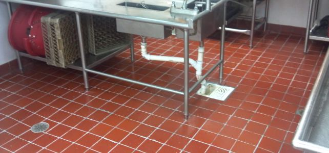 Picture of a restaurant kitchen.